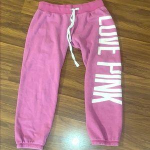 Pink cropped sweats